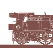 Pacific Locomotive by Michel Godts