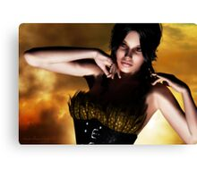 Le Corset a Plumes  (the feathered corset) Canvas Print