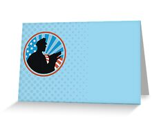 Policeman Security Guard With Police Dog Retro  Greeting Card