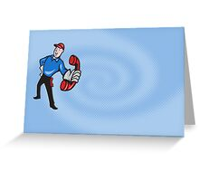Telephone Repairman Worker Phone Greeting Card