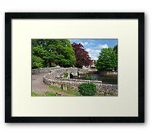 Across Sheepwash Bridge, Ashford-in-the-Water  Framed Print