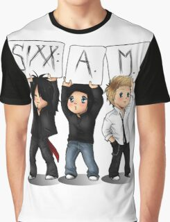 SIXX AM CARTOON Graphic T-Shirt