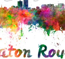 Baton Rouge skyline in watercolor Sticker