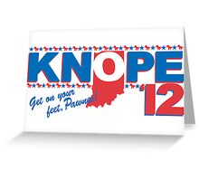 Vote 4 Knope Greeting Card