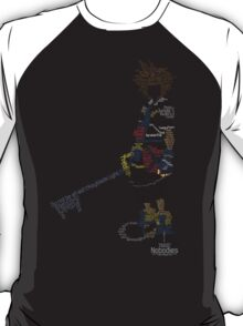 Kingdom Hearts Sora Typography T-Shirt