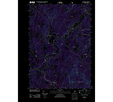 USGS TOPO Map New Hampshire NH Lisbon 20120615 TM Inverted Photographic Print