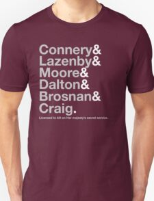 Bond Actor Jetset T-Shirt