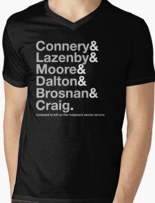 Bond Actor Jetset Mens V-Neck T-Shirt