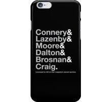 Bond Actor Jetset iPhone Case/Skin