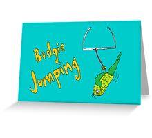 Budgie Jumping Greeting Card