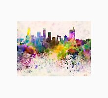 Beijing skyline in watercolor background Unisex T-Shirt