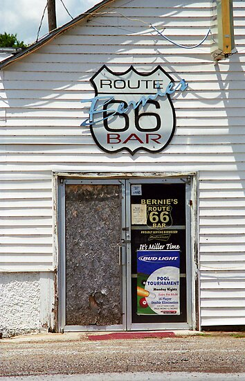 Route 66 - Bernie's Bar by Frank Romeo