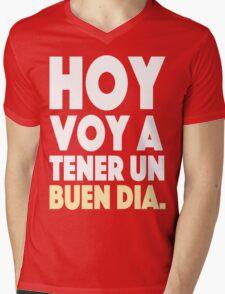 Hoy Voy A Tener Un Buen Dia Mens V-Neck T-Shirt
