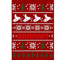 Snowmobile  Ugly Christmas Sweater Photographic Print