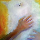 'Lilly' White Cat by Kelly Telfer