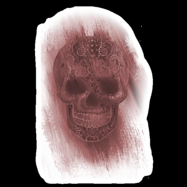 Skull- Study In Red by Iain Maynard