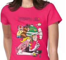Mushroom Girl Womens Fitted T-Shirt
