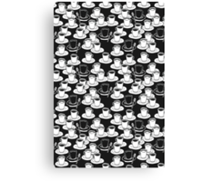 black or white? your good morning cofee Canvas Print