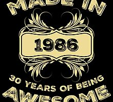 Made In 1986 30 Years Of Being Awesome by aestheticarts