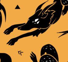 Dancing Wolves Sticker