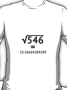 Arbitrary Square Root T-Shirt