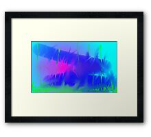 Blue Abyss Revisited Framed Print