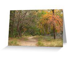 Autumn Path Greeting Card