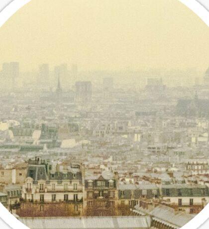 Paris - view from Montmartres Sticker
