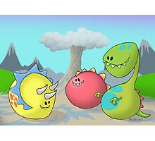 Jolly Dinosaurs Photographic Print