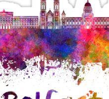 Belfast skyline in watercolor Sticker