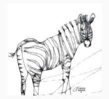 Scribbler Zebra by arline wagner