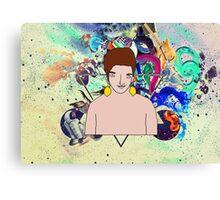 Psychedelic Lemon Man 2 Canvas Print