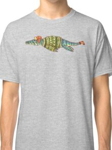 Hipster Liopleurodon Derposaur with Sweater and Ushanka Classic T-Shirt