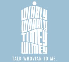 Talk Whovian To Me Baby Tee