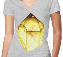 Watercolor Citrine – November Birthstone Women's Fitted V-Neck T-Shirt