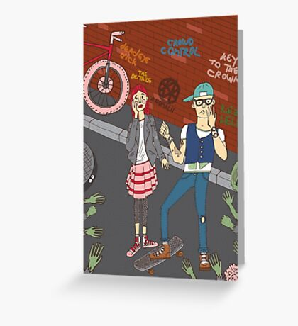 The zombie attack Greeting Card