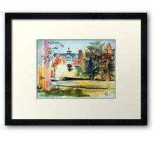 Fountain at the Baptist Home, Ironton, Missouri Framed Print
