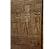 Re Horakhty Hathor and Sobek at Edfu Photographic Print