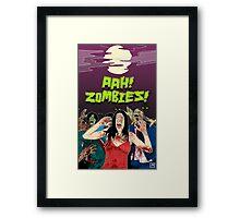 AHH!! Zombies!! Framed Print