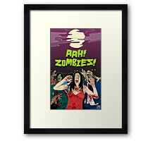AHH!! Zombies!! Framed Print