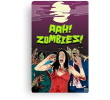 AHH!! Zombies!! Canvas Print