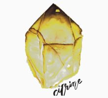 Watercolor Citrine With Calligraphy – November Birthstone Kids Tee