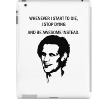 11th Doctor feels awesome. iPad Case/Skin