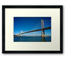 Sailing under the Bay Bridge - San Francisco Framed Print