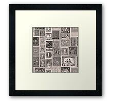 Letters from the world Framed Print