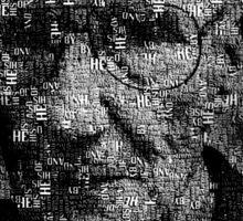William S. Burroughs Typographical Portrait Sticker