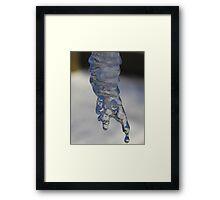 Ice Finger Framed Print