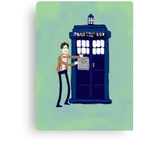 Welcome to my Tardis Canvas Print