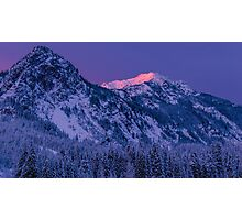 First Light at Snoqualmie Pass Photographic Print