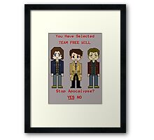 Team Free Will character select Framed Print
